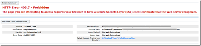 Troubleshooting SSL client certificate issue on IIS | Codit