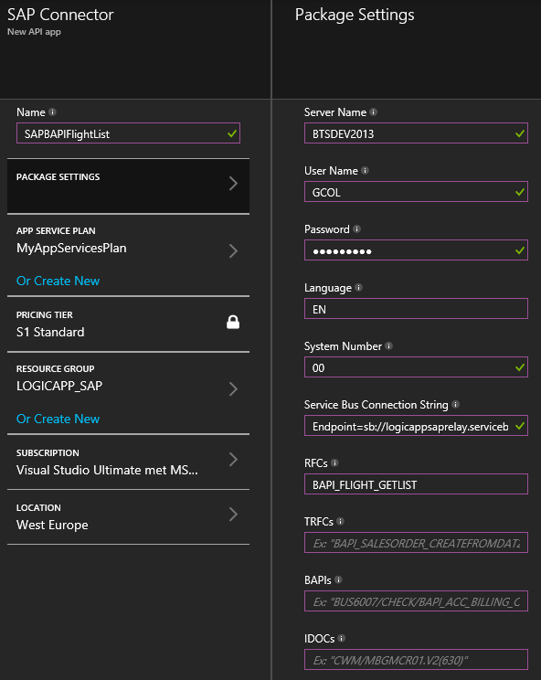 Expose SAP functionality to the cloud with Azure App
