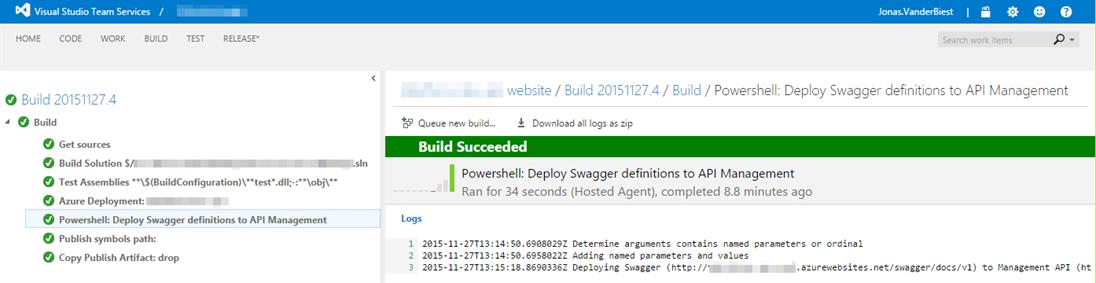 Deploy Swagger API to Azure API Management using TFS Build