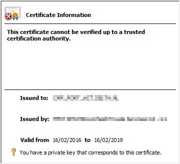 TLS1.2 - Faulty Certificate
