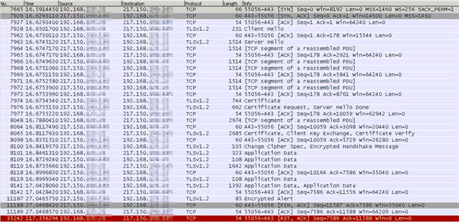 Wireshark - TLS1.2 - Success