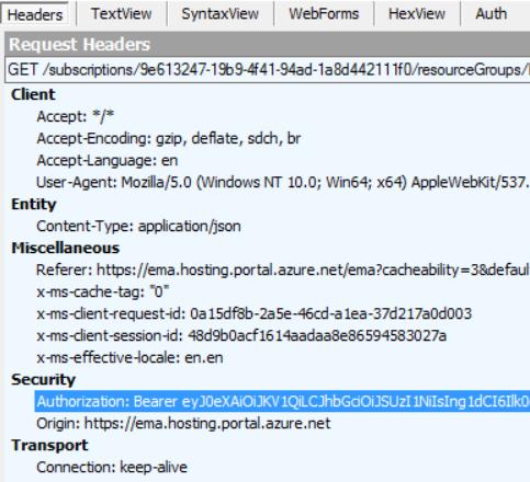 Authenticate Postman against Azure Service Management API