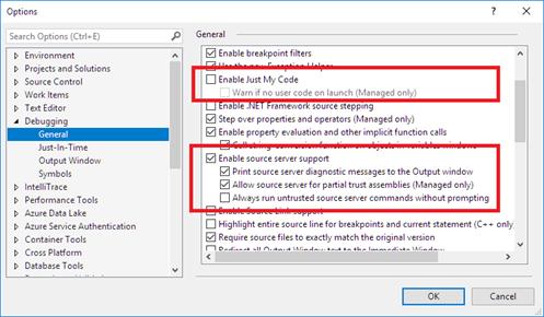 How to Debug Through External Code ?